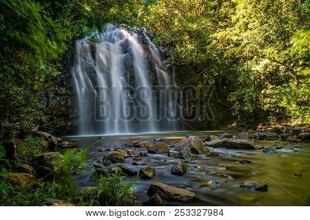 Ellinjaa Falls In The Summer In Queensland, Australia, Long Exposure