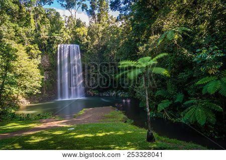 Millaa Milla Falls In The Summer In Queensland, Australia, Long Exposure
