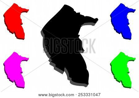 Free 3d Map Of Australia.3d Map Australian Vector Photo Free Trial Bigstock