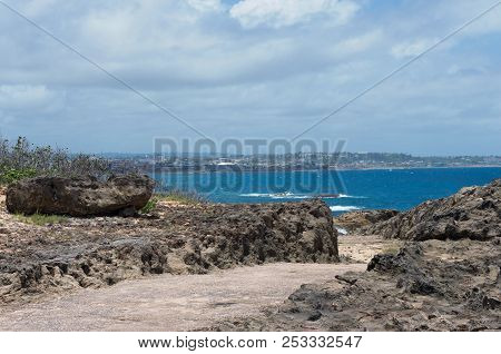 Along The Shore At Punta Marillos Arecibo Puerto Rico Near Lighthouse Historical Park With View Acro