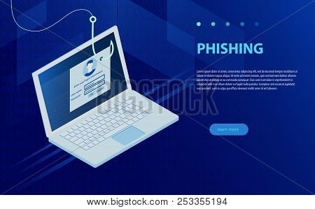 Login Into Account And Fishing Hook. Internet Phishing, Hacked Login And Password. Phishing Via Inte