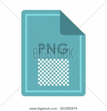 File PNG icon in flat style isolated on white background. Document type symbol illustration poster