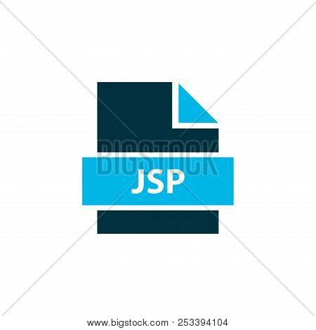 File Jsp Icon Colored Symbol. Premium Quality Isolated Java Server Element In Trendy Style.