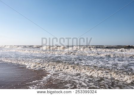 Storm On The Sea Of Azov. Windstorm
