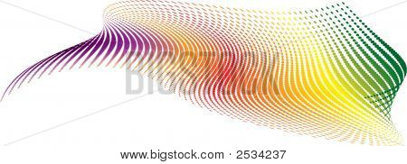 Twisted rainbow illustration that would make an ideal background poster