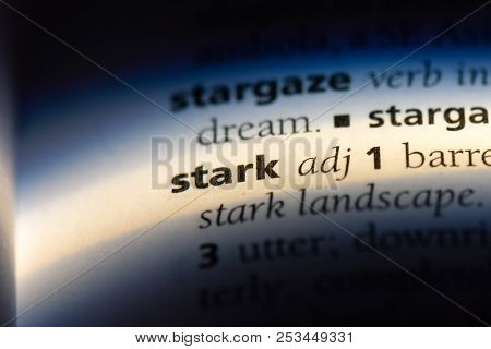 Stark Word In A Dictionary. Stark Concept.