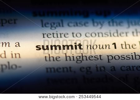 Summit Word In A Dictionary. Summit Concept.