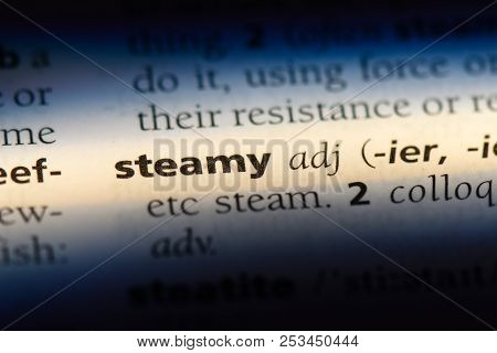Steamy Word In A Dictionary. Steamy Concept.
