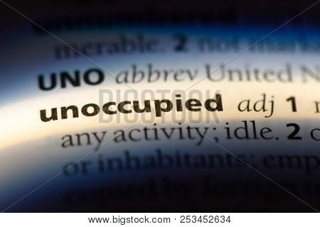 Unoccupied Word In A Dictionary. Unoccupied Concept.