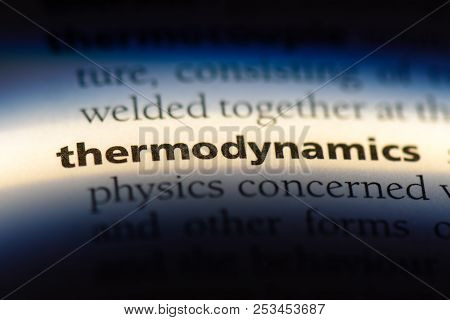 Thermodynamics Word In A Dictionary. Thermodynamics Concept.