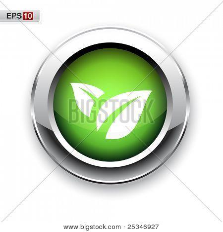 Eco button eps10