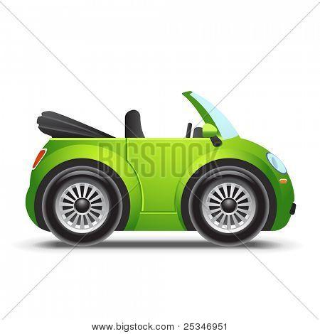 Green cabriolet