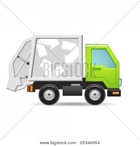 Recycle truck icon