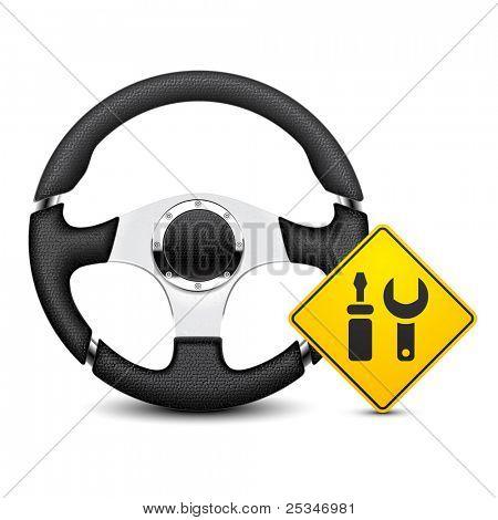 car steering wheel service icon