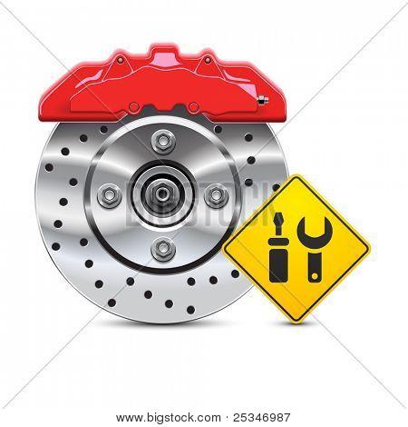 car brake disc service icon