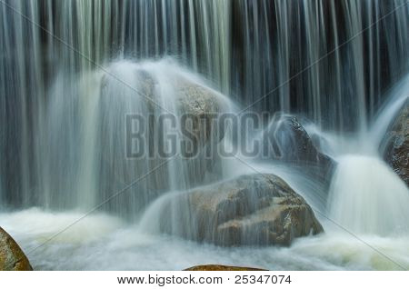waterfall close up view