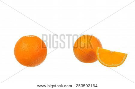 Orange Isolated On White Background Wite Clipping Path