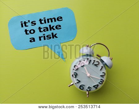 Motivational quote on take risk