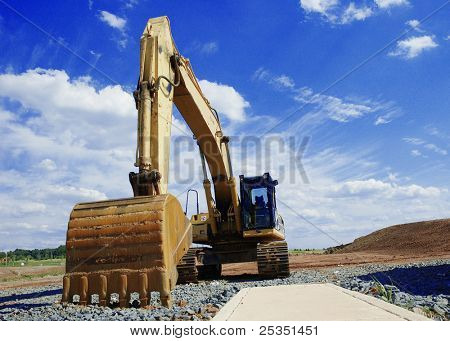 Hydraulic Excavator on construction site.
