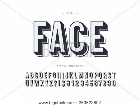 Vector Face Font Bold Style For Logo, Decoration, Party Poster, T Shirt, Book, Greeting Card, Sale B