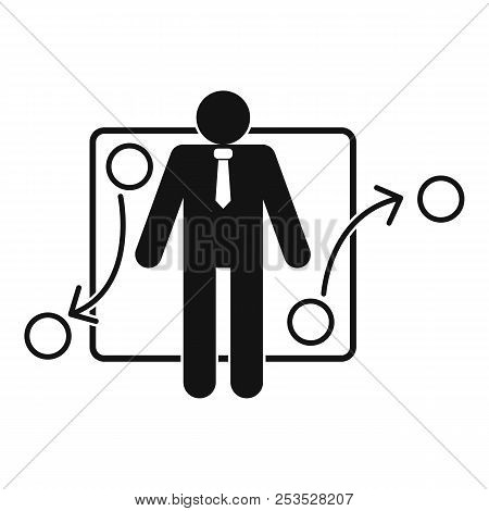 One Businessman Icon. Simple Illustration Of One Businessman  Icon For Web