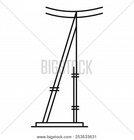 Telegraph Pole Icon. Outline Illustration Of Telegraph Electric Pole  Icon For Web