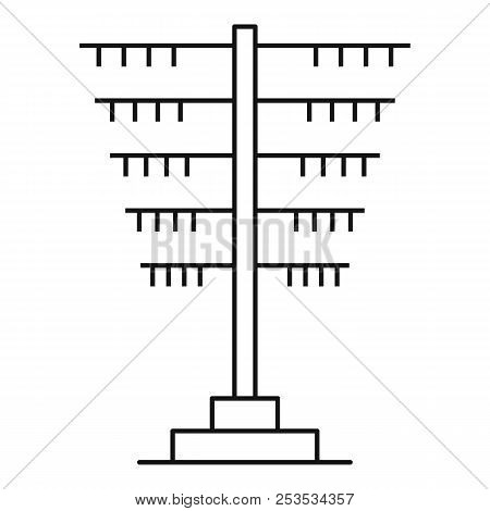 Connection Pole Icon. Outline Illustration Of Connection Pole  Icon For Web