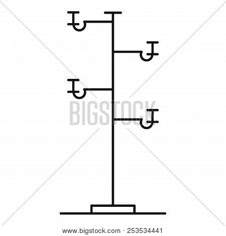 Wooden Pole Icon. Outline Illustration Of Wooden Pole  Icon For Web
