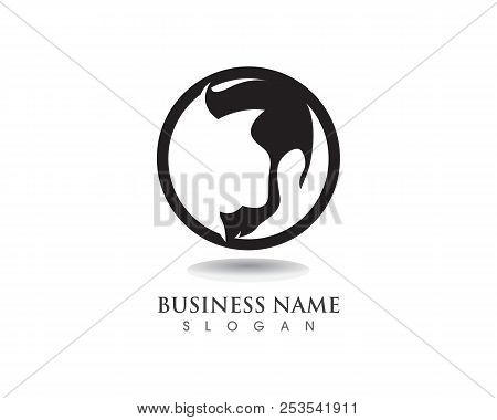masculine beard black hair geek logo and symbols poster
