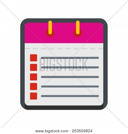 Calendar List Icon. Flat Illustration Of Calendar List  Icon Isolated On White Background
