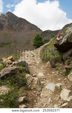 Sharp Small  Trail In The Mountains Uphill