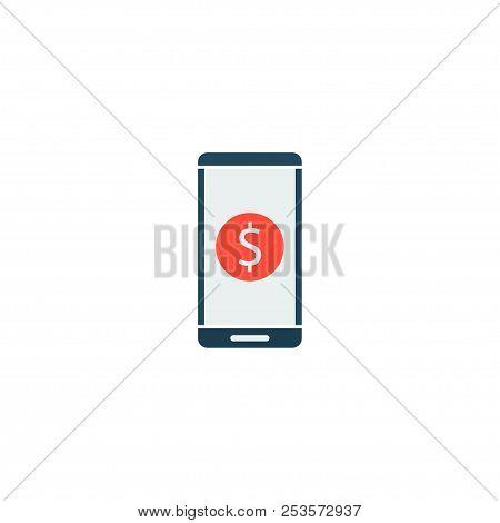 Financial App Icon Flat Element.  Illustration Of Financial App Icon Flat Isolated On Clean Backgrou