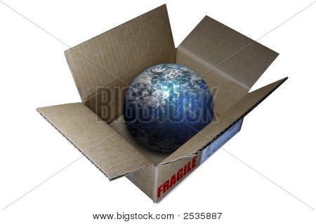 World Globe In A Box