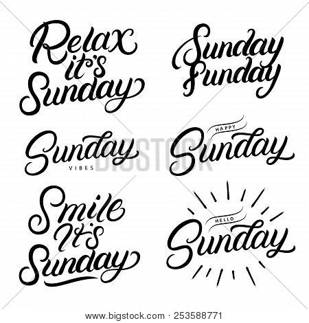 Sunday Set Hand Vector & Photo (Free Trial) | Bigstock