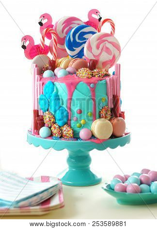 On Trend Candyland Fantasy Drip Novelty Birthday Cake
