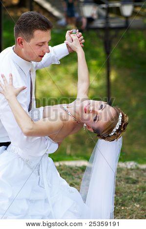 Wedding Dance In Park