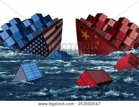 China United States Trade Trouble And Economic War Or American Tariffs And Chinese Tariff As Two Sin