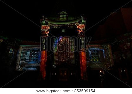 3d mapping at The Estate of Michael Jackson + Sony Music present Michael Jackson Scream Halloween Takeover at TCL Chinese Theatre IMAX on October 24, 2017 in Los Angeles, CA