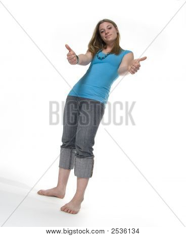 Thumbs Up Teenager