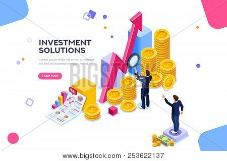 Bank Development Economics Strategy. Commerce Solutions For Investments, Analysis Concept. Analysis