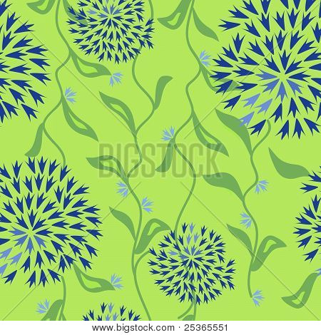 Floral pattern with seamless leaf elements