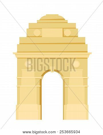 Monument Of Sight. Indian Gate In Delhi. Architectural Monument.
