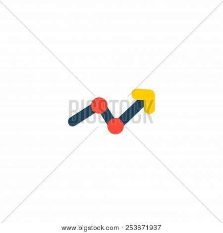 Statistic Icon Flat Element. Vector Illustration Of Statistic Icon Flat Isolated On Clean Background
