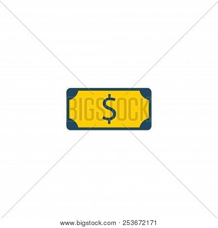 Dollar Icon Flat Element. Vector Illustration Of Dollar Icon Flat Isolated On Clean Background For Y