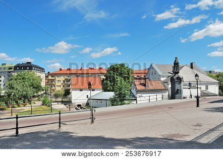 Sweden. Beautiful Town Of Uppsala In A Sunny Summer Day