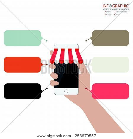 Vector Abstract Element Infographics 6 Option With Flat Design Illustration Concepts For Business An