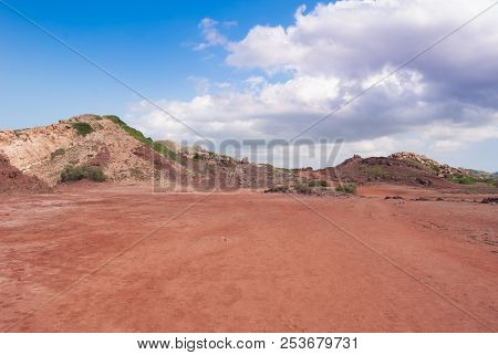 Red Martian Earth Color In An Area North Of Menorca