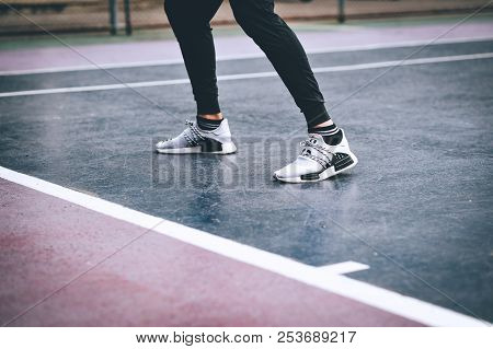 Outdoor Exercise Man Healthy Exercise, Battering, Running, Walking And Prepare To Exercise