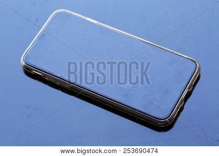 Smartphone Over Black Background