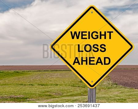 Weight Loss Ahead Caution Sign For Health
